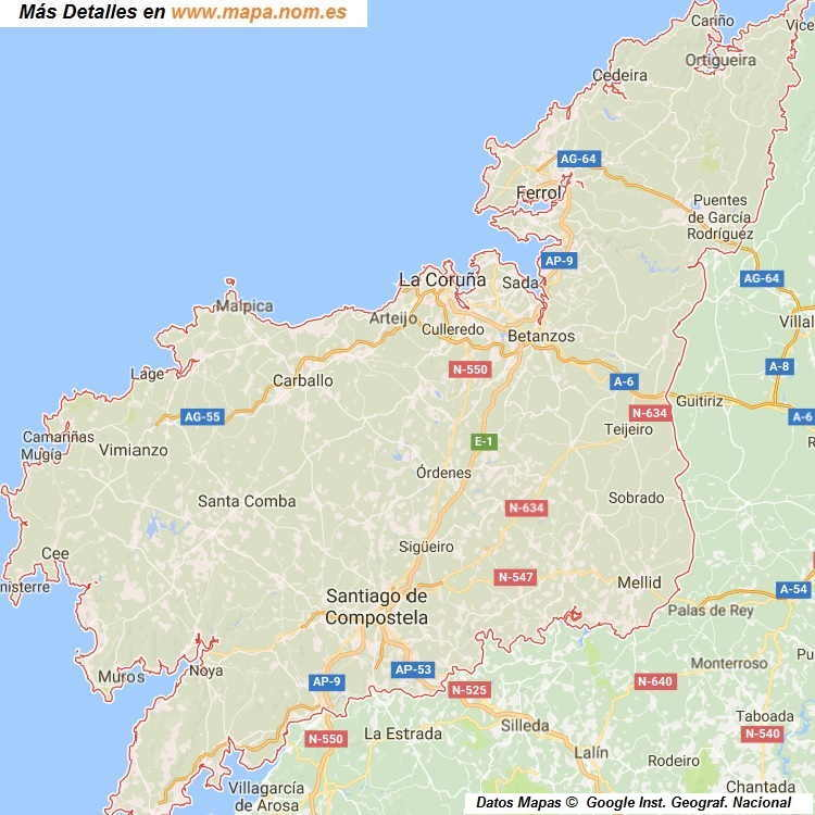 Mapa Callejero de Coruna-A