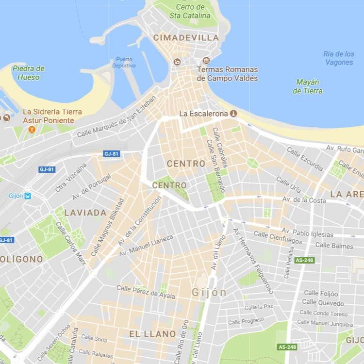 Mapa Callejero de Gijon