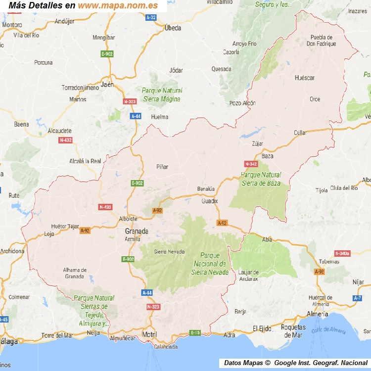 Mapa Callejero de Granada