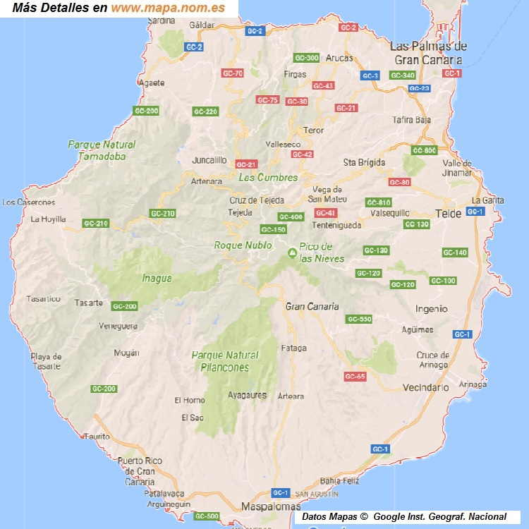 Mapa Callejero de Palmas-de-Gran-Canaria-Las