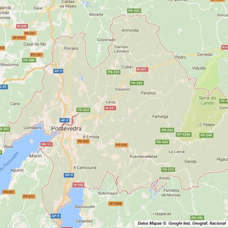 Mapa De Pontevedra Ciudad.Mapa Callejero De Pontevedra Pontevedra Plano