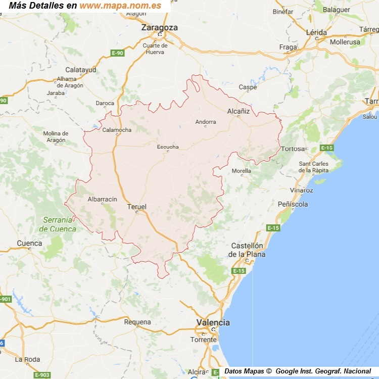 Mapa Callejero De Teruel Teruel Plano