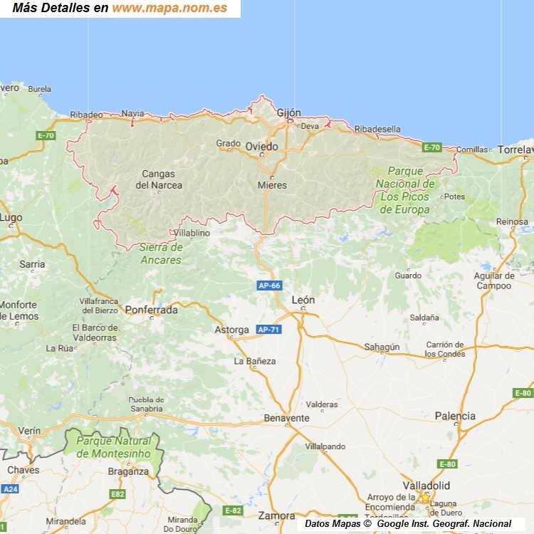 MAPA DE Asturias PROVINCIA Y PUEBLOS 21