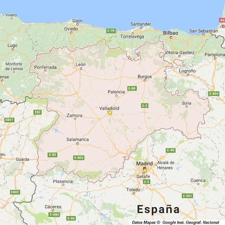 Mapa de Castilla y Leon