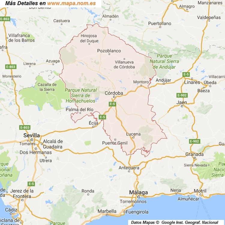 Mapa Provincia De Cordoba Politico.Mapa De Cordoba Provincia Y Pueblos Pagina 1