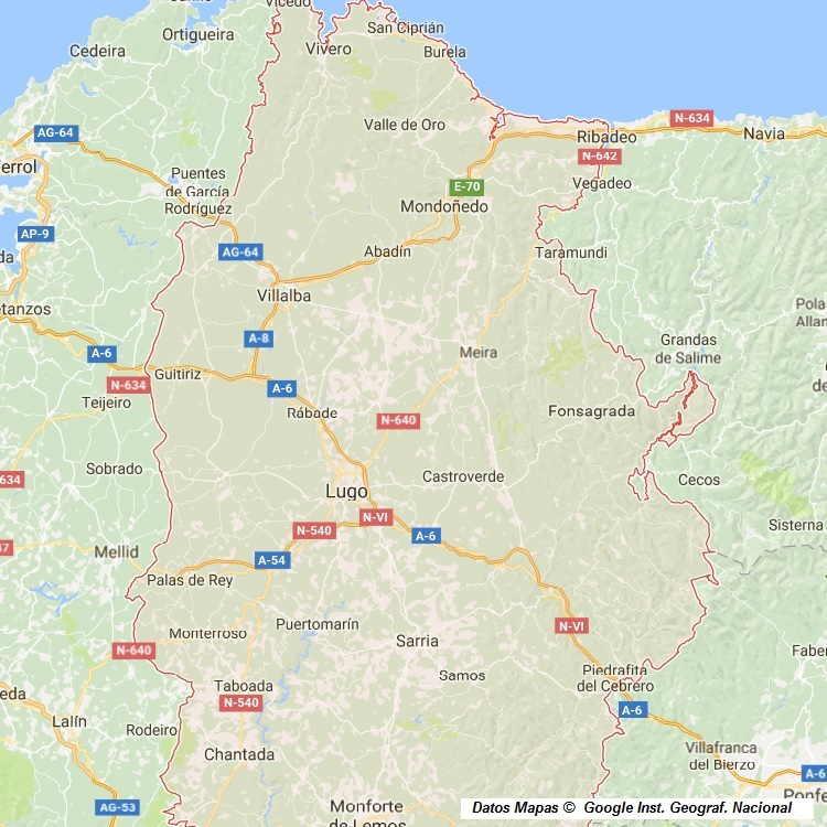 Mapa De Lugo Provincia Y Pueblos Pagina 1