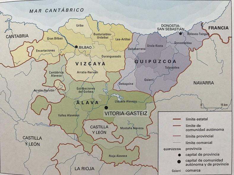 Mapa Politico Pais Vasco